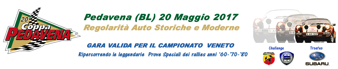 Rally Club 70 – Coppa Pedavena 2016