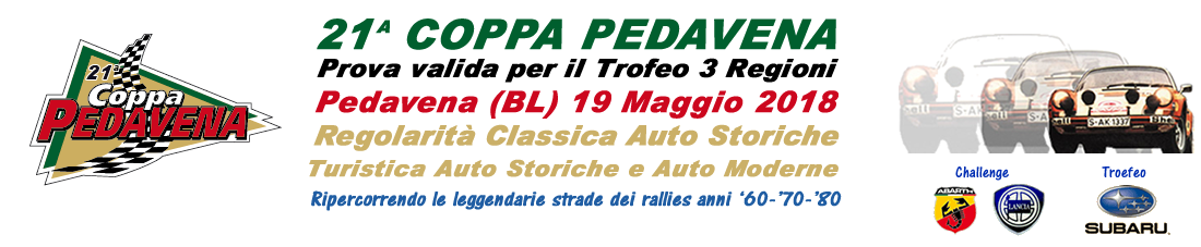 Rally Club 70 – Coppa Pedavena 2018